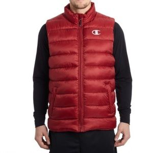 Champion Brick Red Quilted Puffer Vest -XL